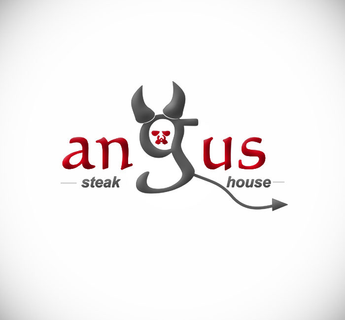 Logo Design by Bobby Yoga P - Entry No. 18 in the Logo Design Contest Imaginative Custom Design for Angus Steakhouse.