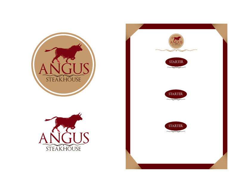 Logo Design by Mahir Hamzic - Entry No. 21 in the Logo Design Contest Imaginative Custom Design for Angus Steakhouse.