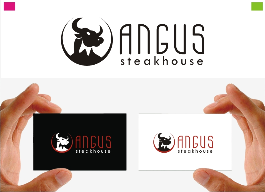 Logo Design by Private User - Entry No. 23 in the Logo Design Contest Imaginative Custom Design for Angus Steakhouse.