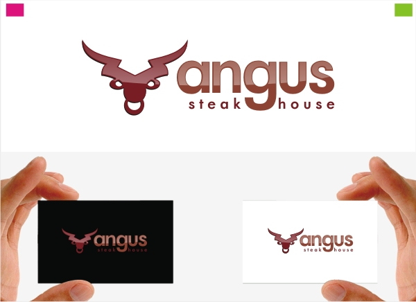 Logo Design by Private User - Entry No. 24 in the Logo Design Contest Imaginative Custom Design for Angus Steakhouse.