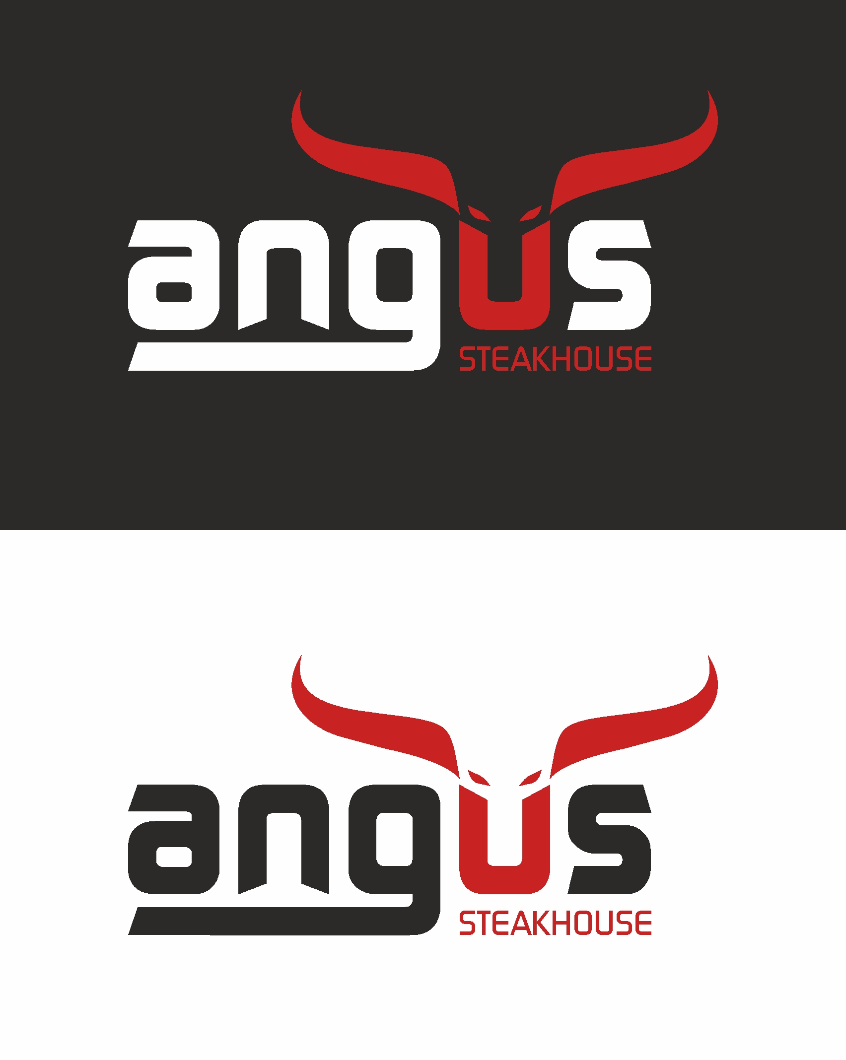 Logo Design by Amit Kaushik - Entry No. 29 in the Logo Design Contest Imaginative Custom Design for Angus Steakhouse.
