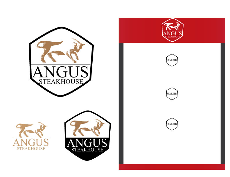 Logo Design by Mahir Hamzic - Entry No. 31 in the Logo Design Contest Imaginative Custom Design for Angus Steakhouse.
