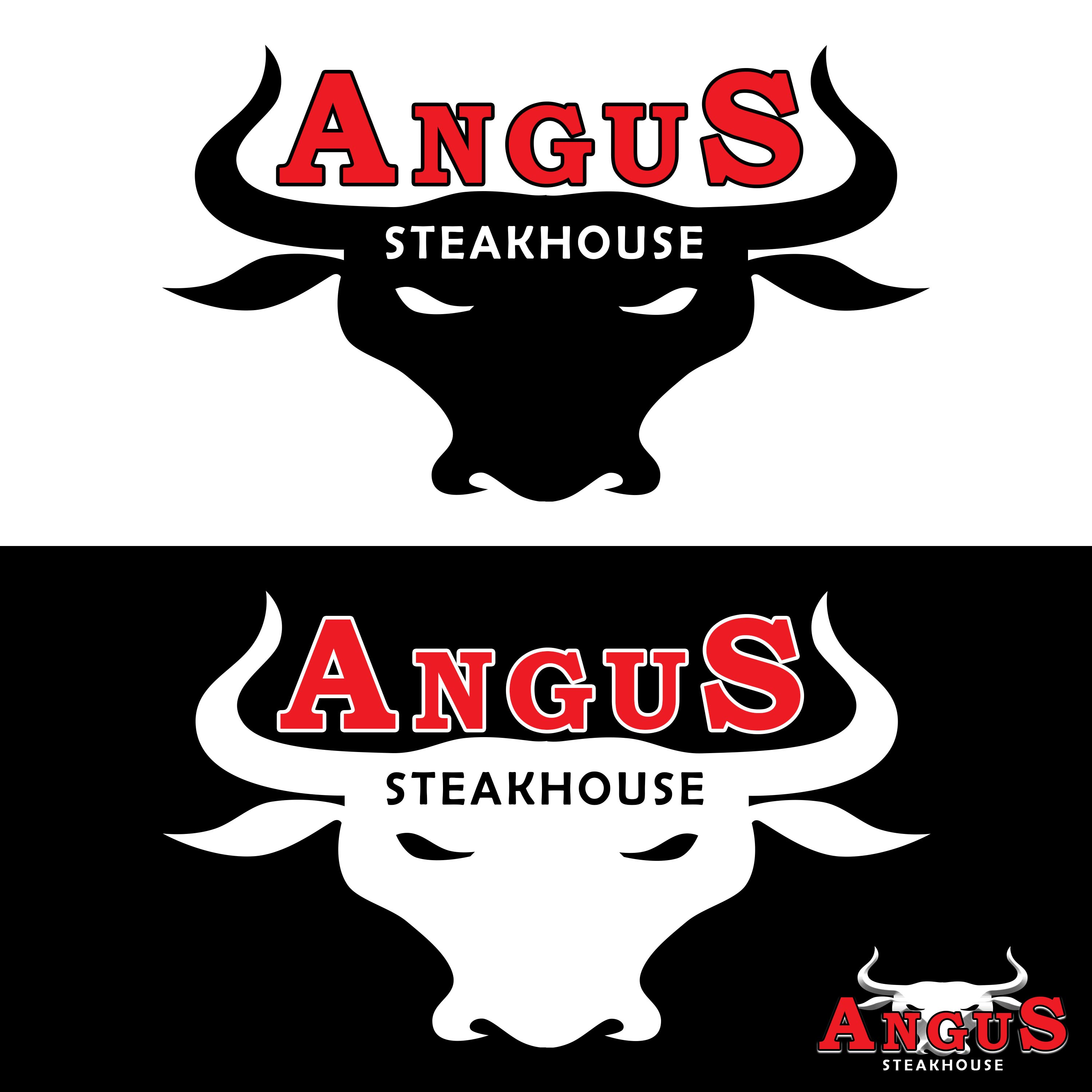 Logo Design by buddha - Entry No. 32 in the Logo Design Contest Imaginative Custom Design for Angus Steakhouse.
