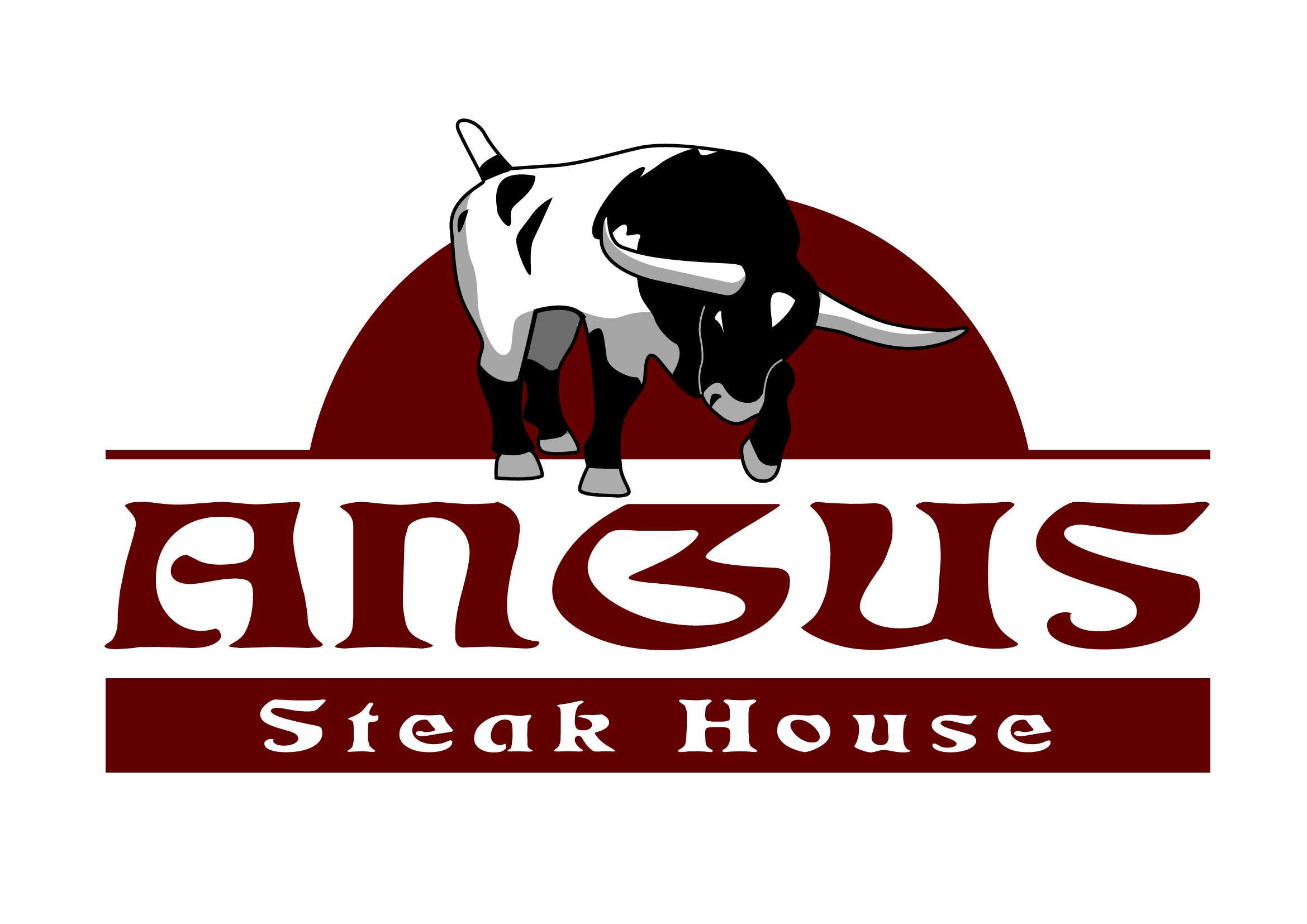Logo Design by Wilfredo Mendoza - Entry No. 33 in the Logo Design Contest Imaginative Custom Design for Angus Steakhouse.