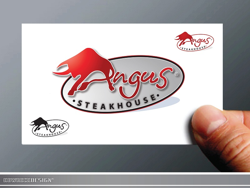 Logo Design by kowreck - Entry No. 34 in the Logo Design Contest Imaginative Custom Design for Angus Steakhouse.