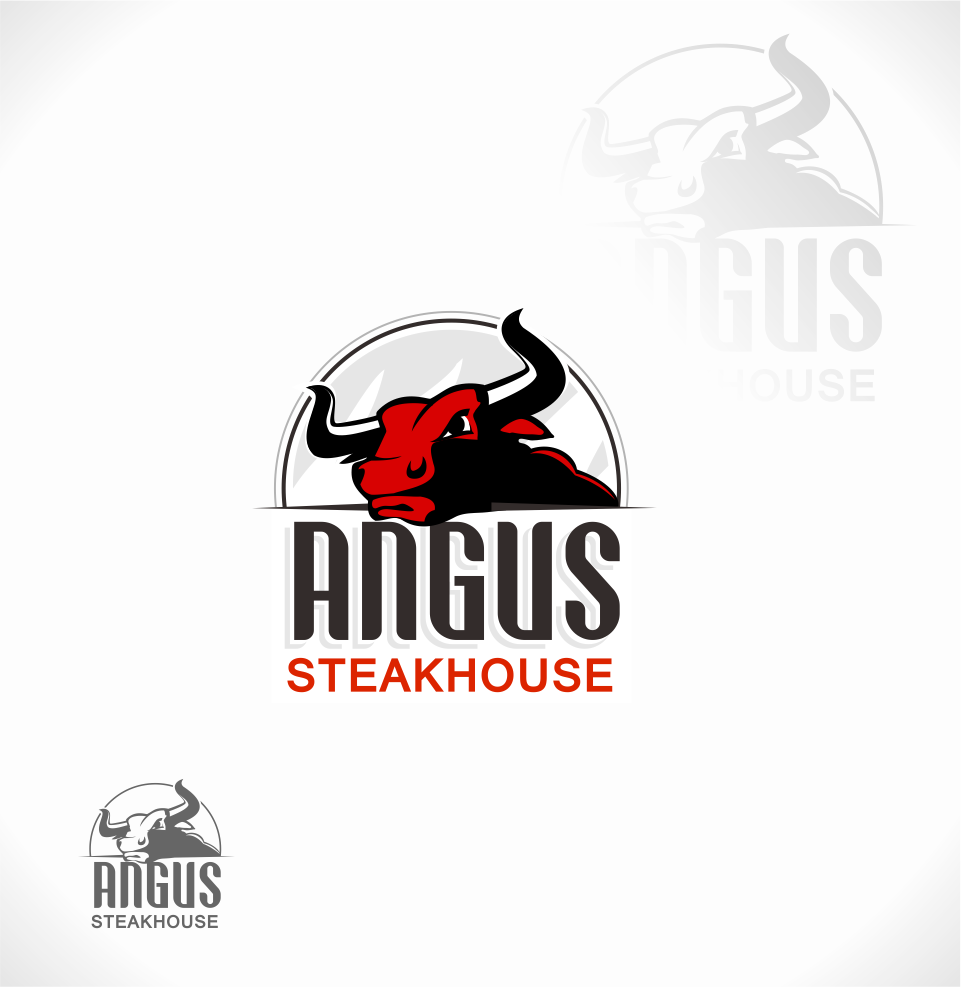 Logo Design by Mitchnick Sunardi - Entry No. 42 in the Logo Design Contest Imaginative Custom Design for Angus Steakhouse.