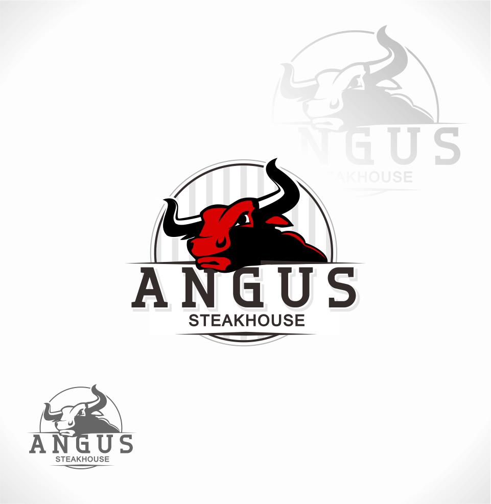 Logo Design by Mitchnick Sunardi - Entry No. 43 in the Logo Design Contest Imaginative Custom Design for Angus Steakhouse.