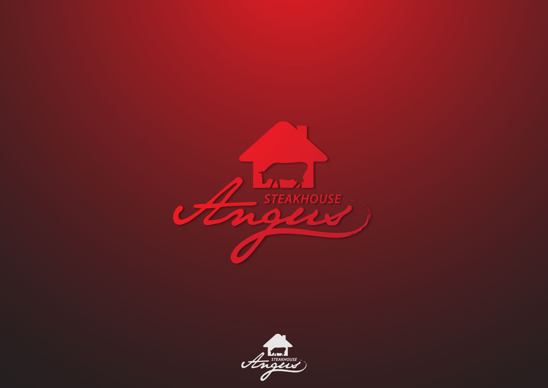 Logo Design by Nurgalih Destianto - Entry No. 46 in the Logo Design Contest Imaginative Custom Design for Angus Steakhouse.
