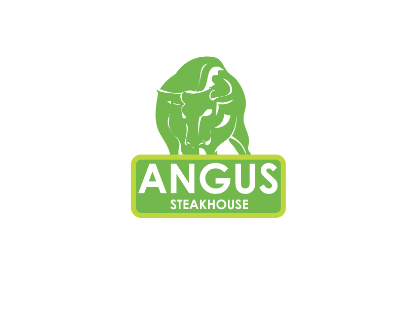 Logo Design by Private User - Entry No. 47 in the Logo Design Contest Imaginative Custom Design for Angus Steakhouse.