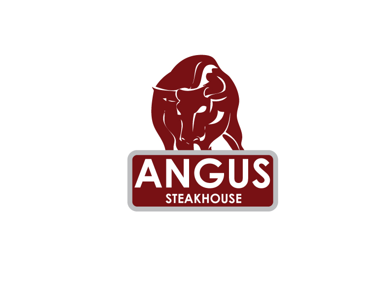Logo Design by Private User - Entry No. 48 in the Logo Design Contest Imaginative Custom Design for Angus Steakhouse.