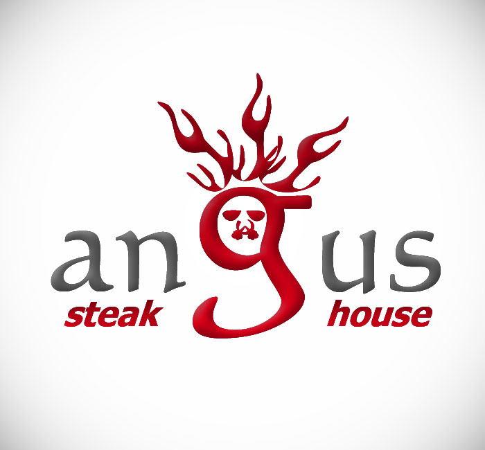 Logo Design by Bobby Yoga P - Entry No. 49 in the Logo Design Contest Imaginative Custom Design for Angus Steakhouse.