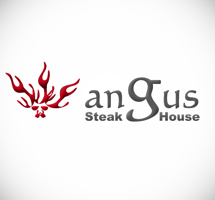 Logo Design by Bobby Yoga P - Entry No. 50 in the Logo Design Contest Imaginative Custom Design for Angus Steakhouse.