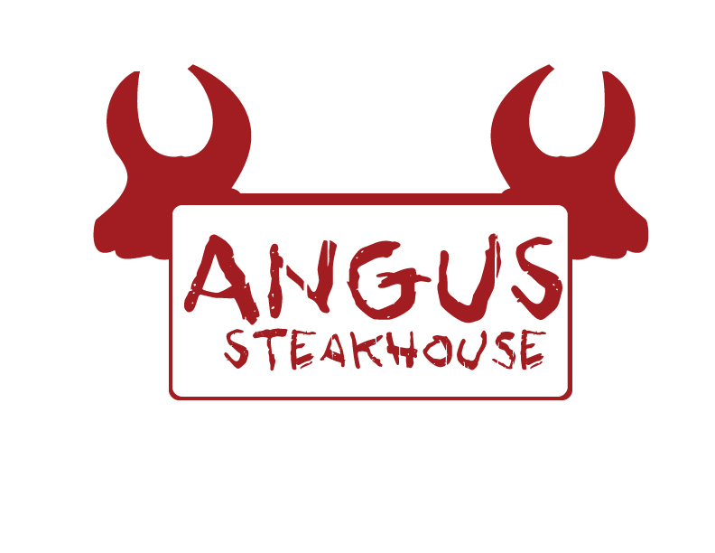 Logo Design by Private User - Entry No. 52 in the Logo Design Contest Imaginative Custom Design for Angus Steakhouse.