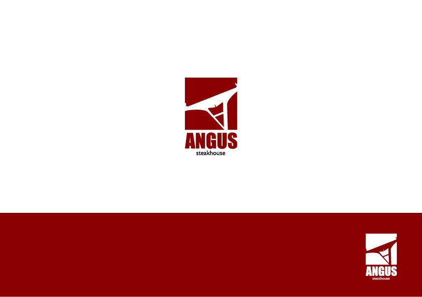 Logo Design by Osi Indra - Entry No. 53 in the Logo Design Contest Imaginative Custom Design for Angus Steakhouse.