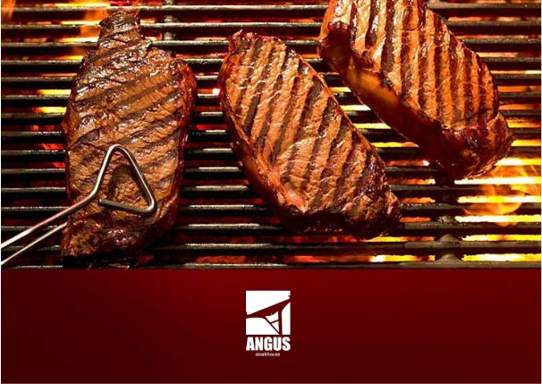 Logo Design by Osi Indra - Entry No. 54 in the Logo Design Contest Imaginative Custom Design for Angus Steakhouse.