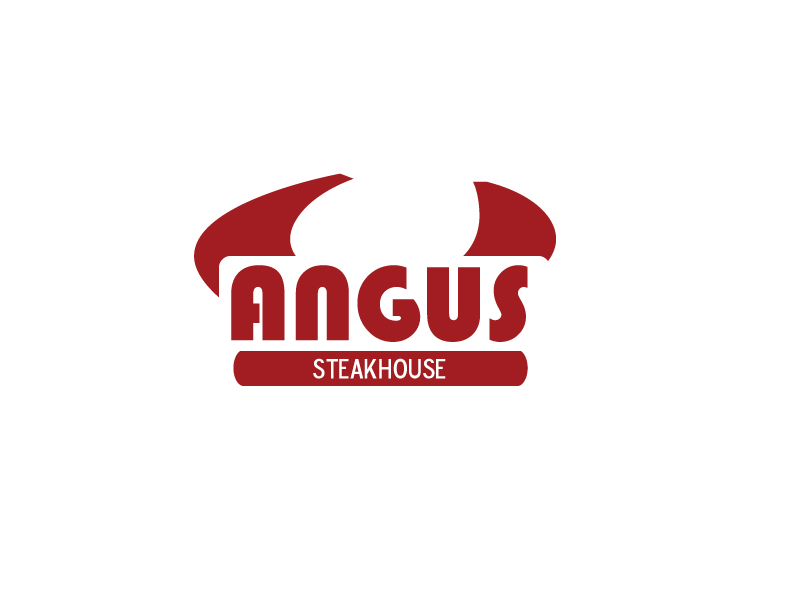 Logo Design by Private User - Entry No. 55 in the Logo Design Contest Imaginative Custom Design for Angus Steakhouse.