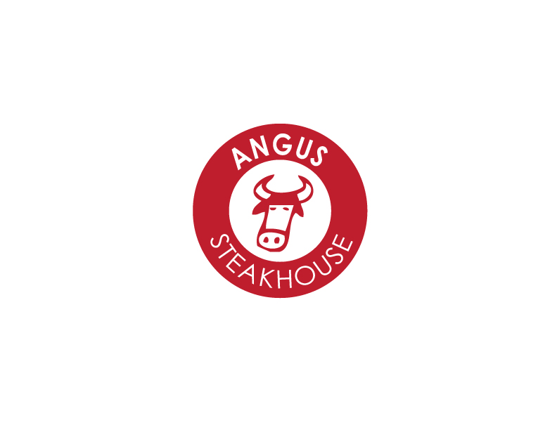 Logo Design by Private User - Entry No. 56 in the Logo Design Contest Imaginative Custom Design for Angus Steakhouse.