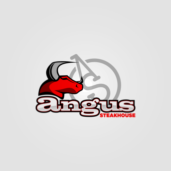 Logo Design by Private User - Entry No. 59 in the Logo Design Contest Imaginative Custom Design for Angus Steakhouse.
