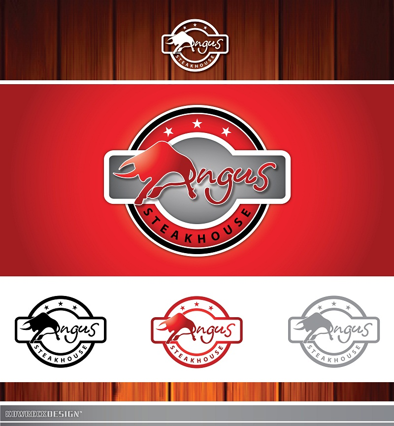 Logo Design by kowreck - Entry No. 60 in the Logo Design Contest Imaginative Custom Design for Angus Steakhouse.