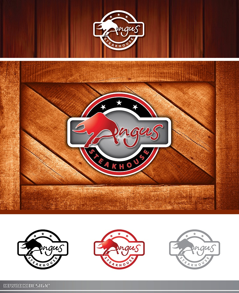 Logo Design by kowreck - Entry No. 61 in the Logo Design Contest Imaginative Custom Design for Angus Steakhouse.
