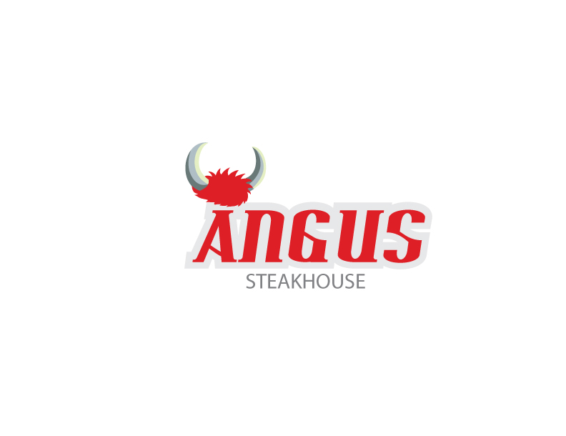 Logo Design by Private User - Entry No. 63 in the Logo Design Contest Imaginative Custom Design for Angus Steakhouse.
