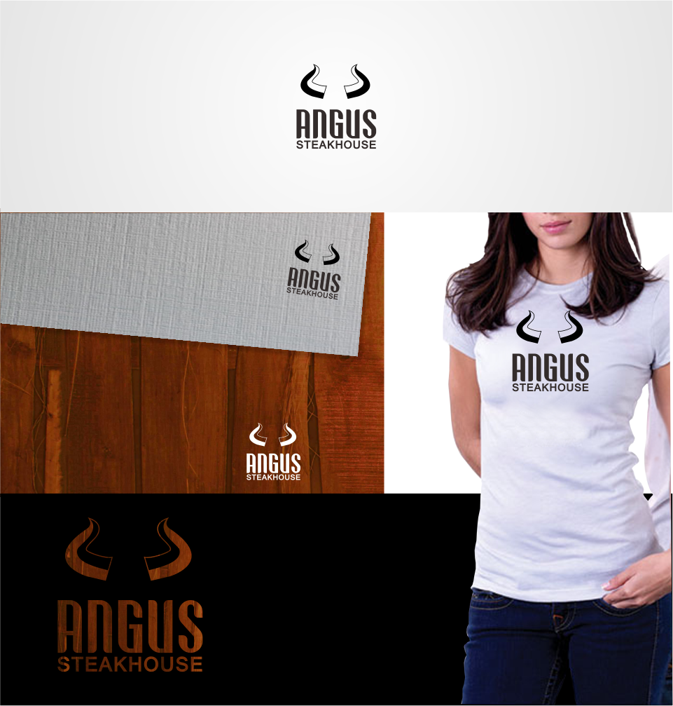 Logo Design by Mitchnick Sunardi - Entry No. 64 in the Logo Design Contest Imaginative Custom Design for Angus Steakhouse.
