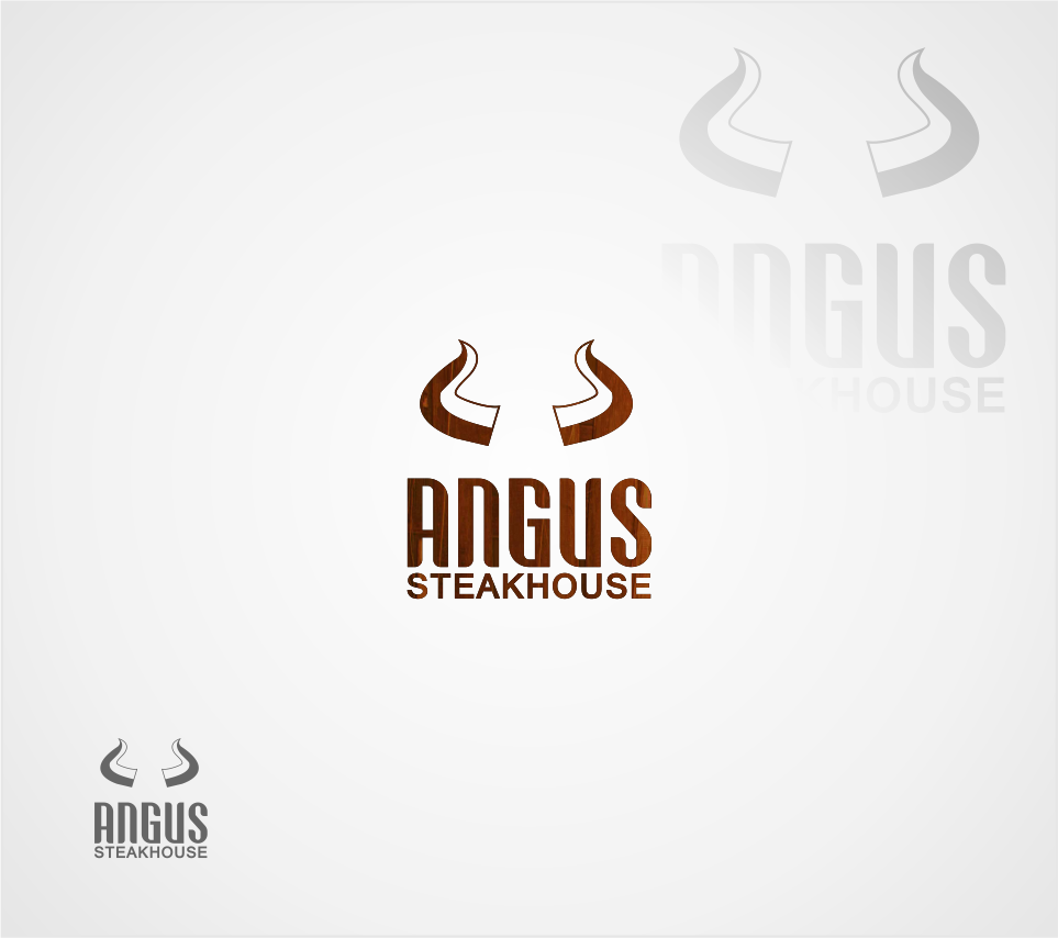 Logo Design by Mitchnick Sunardi - Entry No. 65 in the Logo Design Contest Imaginative Custom Design for Angus Steakhouse.