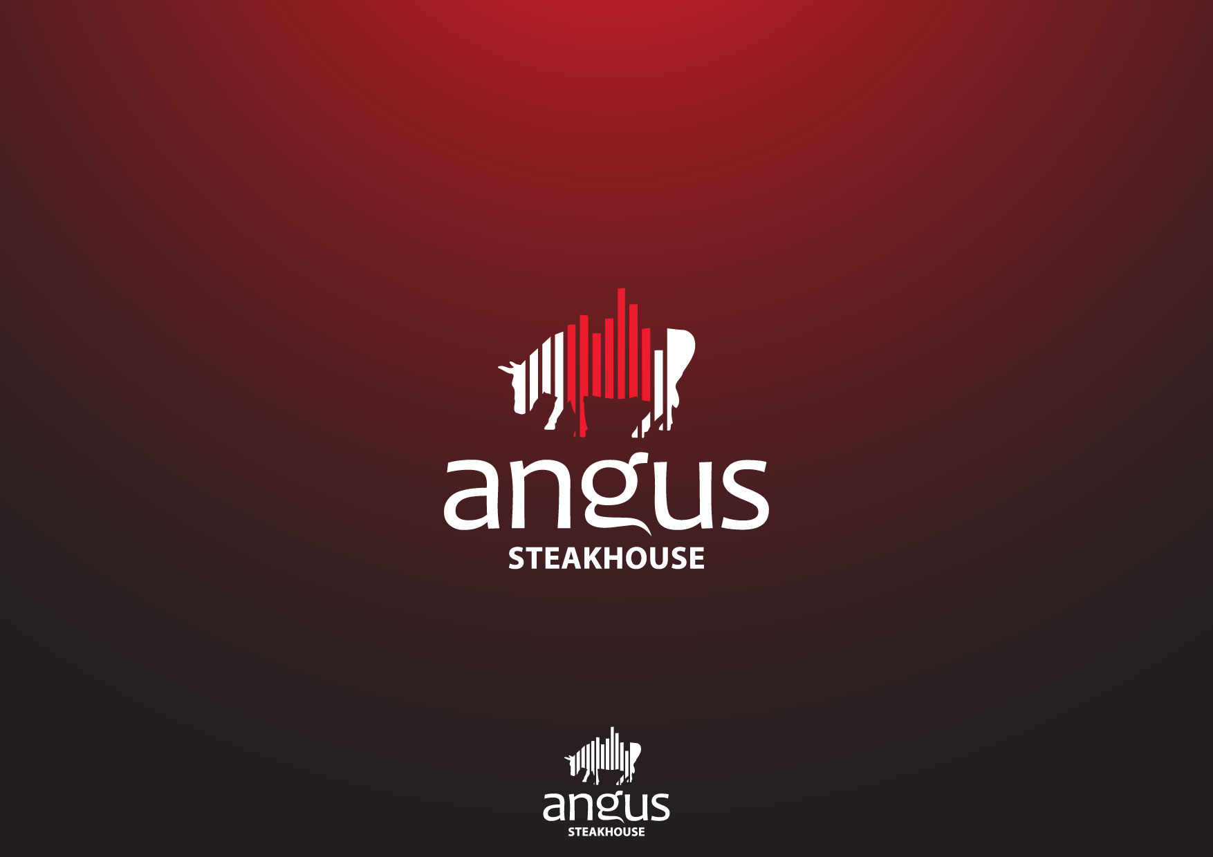 Logo Design by Nurgalih Destianto - Entry No. 72 in the Logo Design Contest Imaginative Custom Design for Angus Steakhouse.