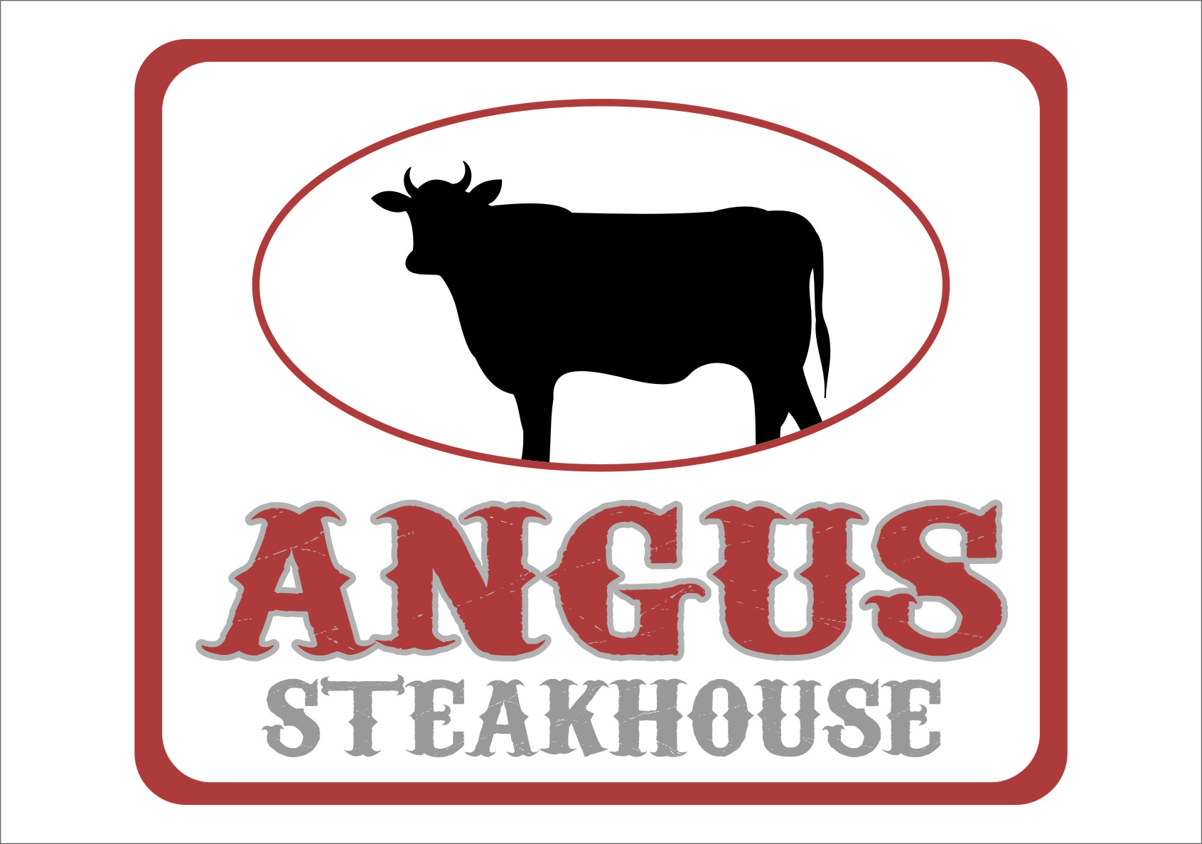 Logo Design by RasYa Muhammad Athaya - Entry No. 73 in the Logo Design Contest Imaginative Custom Design for Angus Steakhouse.