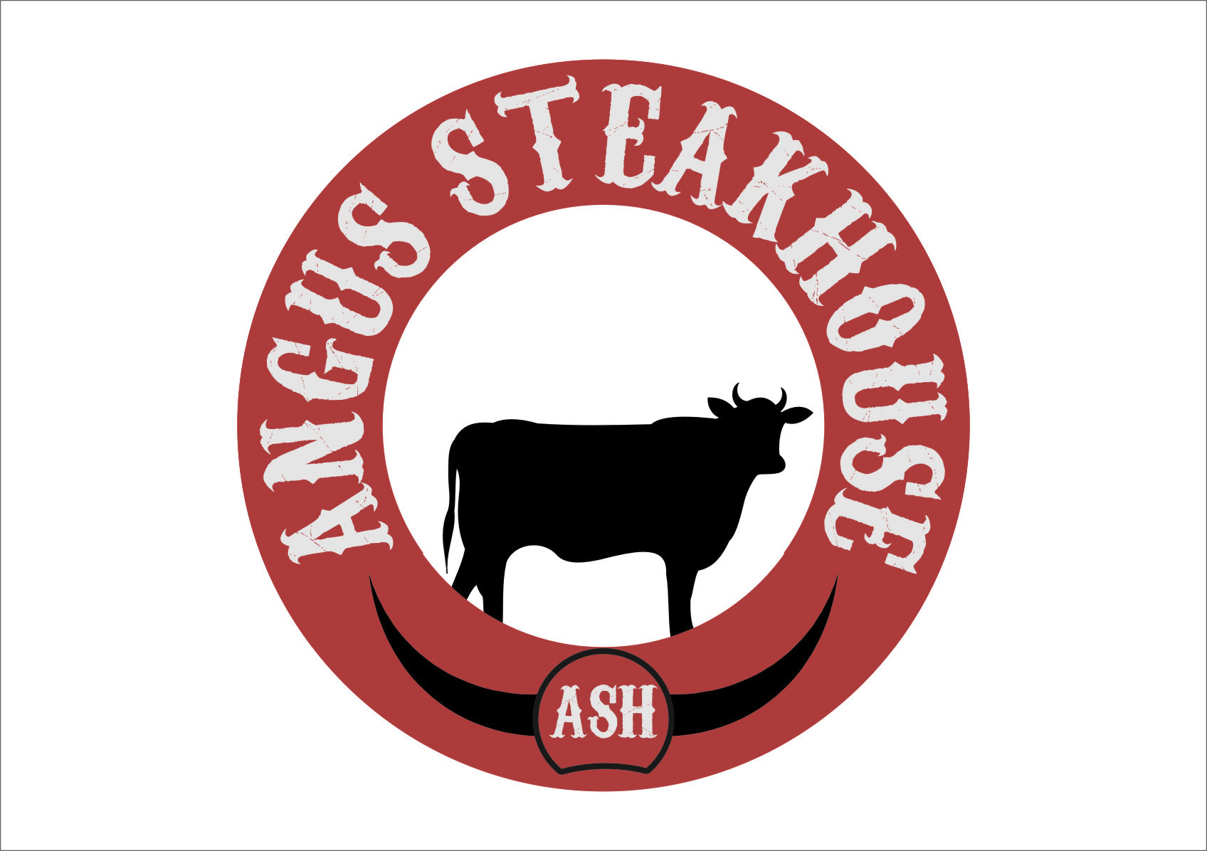 Logo Design by Ngepet_art - Entry No. 74 in the Logo Design Contest Imaginative Custom Design for Angus Steakhouse.