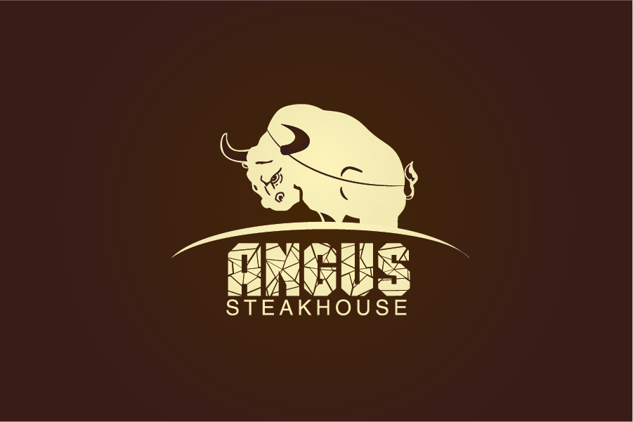 Logo Design by Private User - Entry No. 75 in the Logo Design Contest Imaginative Custom Design for Angus Steakhouse.