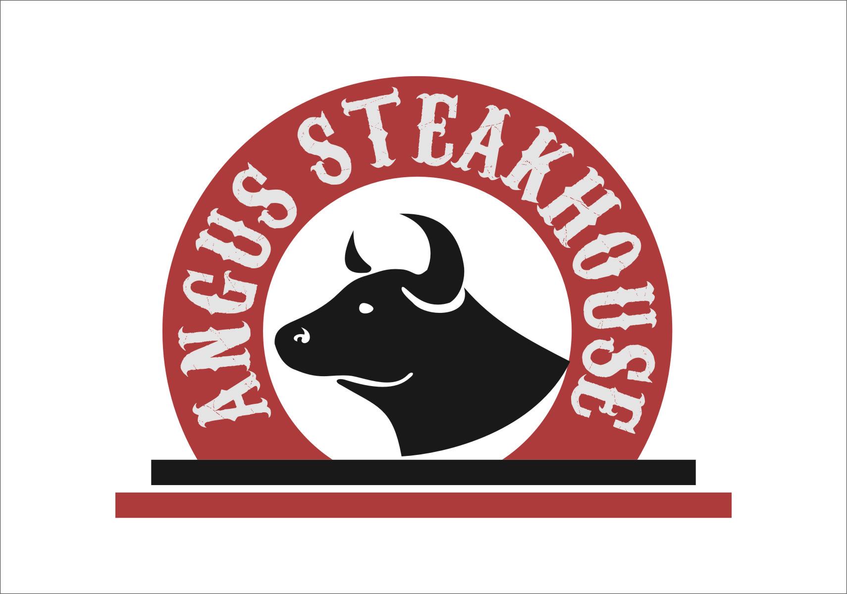 Logo Design by RasYa Muhammad Athaya - Entry No. 76 in the Logo Design Contest Imaginative Custom Design for Angus Steakhouse.