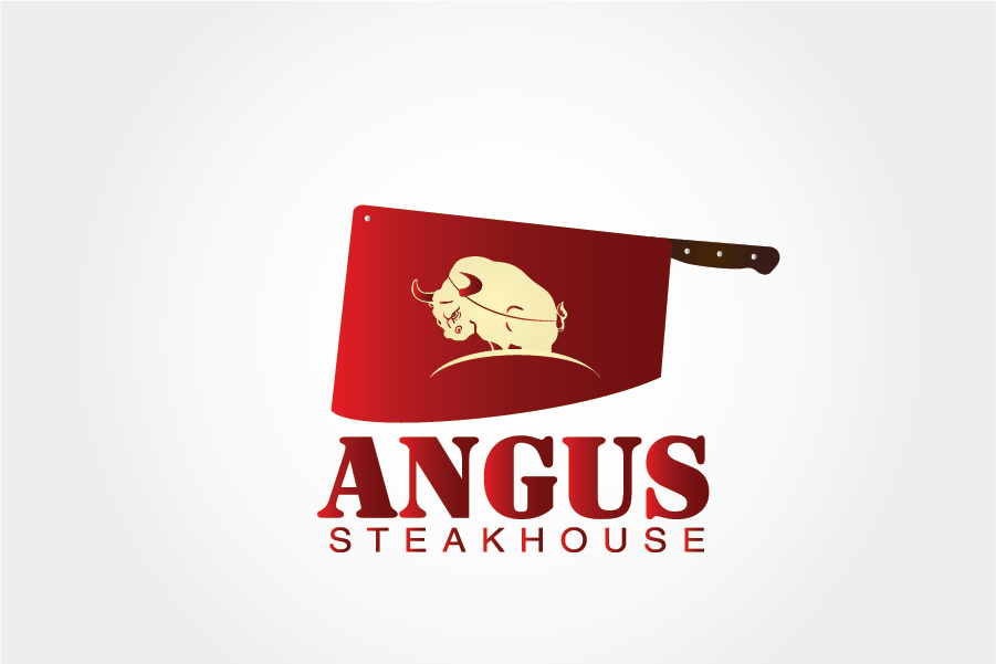 Logo Design by Private User - Entry No. 77 in the Logo Design Contest Imaginative Custom Design for Angus Steakhouse.