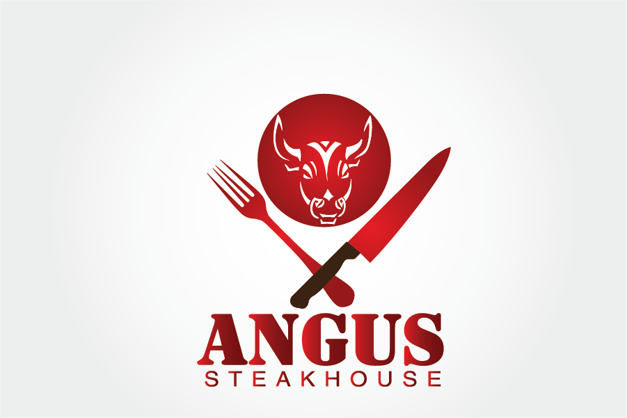 Logo Design by Muhammad Moeen - Entry No. 78 in the Logo Design Contest Imaginative Custom Design for Angus Steakhouse.