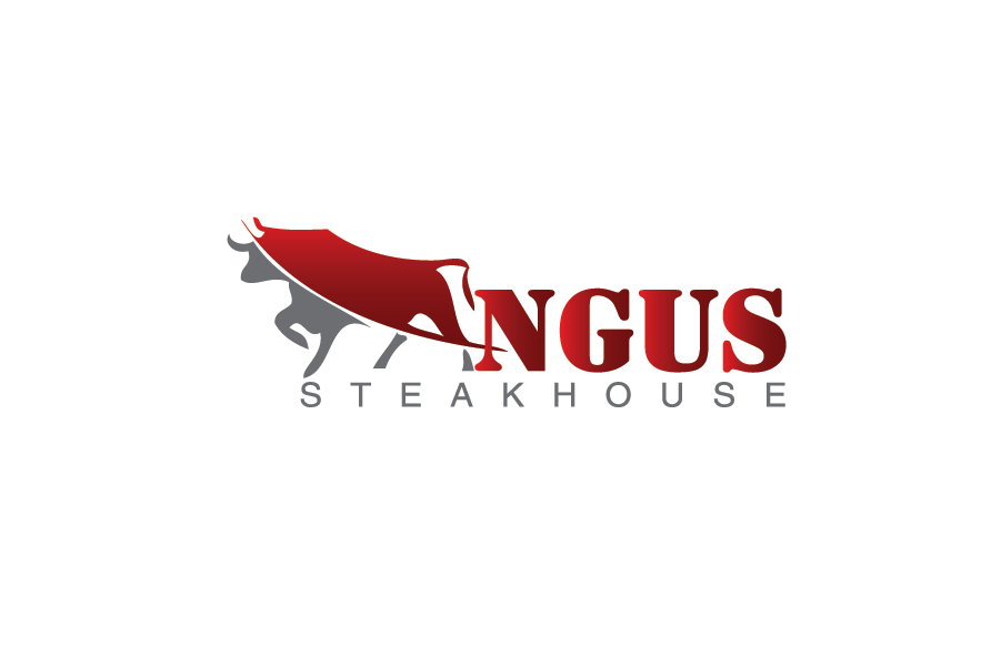 Logo Design by Muhammad Moeen - Entry No. 79 in the Logo Design Contest Imaginative Custom Design for Angus Steakhouse.
