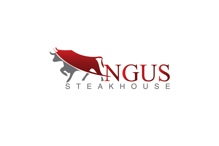 Logo Design by Muhammad Moeen - Entry No. 80 in the Logo Design Contest Imaginative Custom Design for Angus Steakhouse.