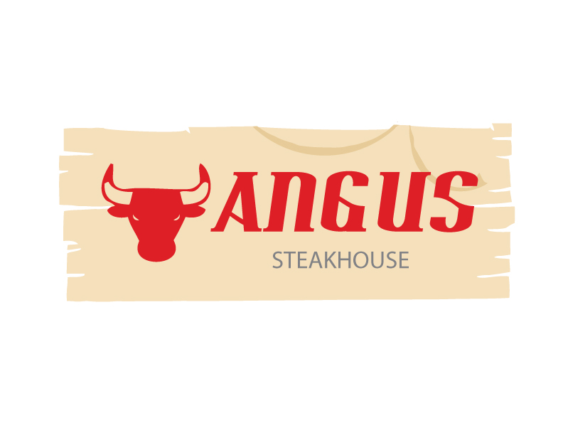 Logo Design by Private User - Entry No. 81 in the Logo Design Contest Imaginative Custom Design for Angus Steakhouse.