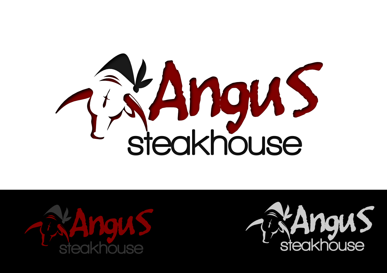 Logo Design by whoosef - Entry No. 82 in the Logo Design Contest Imaginative Custom Design for Angus Steakhouse.