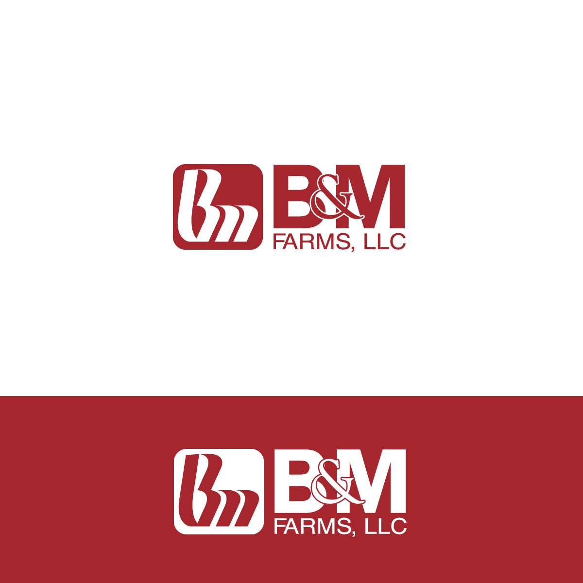 Logo Design by rockin - Entry No. 2 in the Logo Design Contest Creative Logo Design for B & M Farms, LLC.