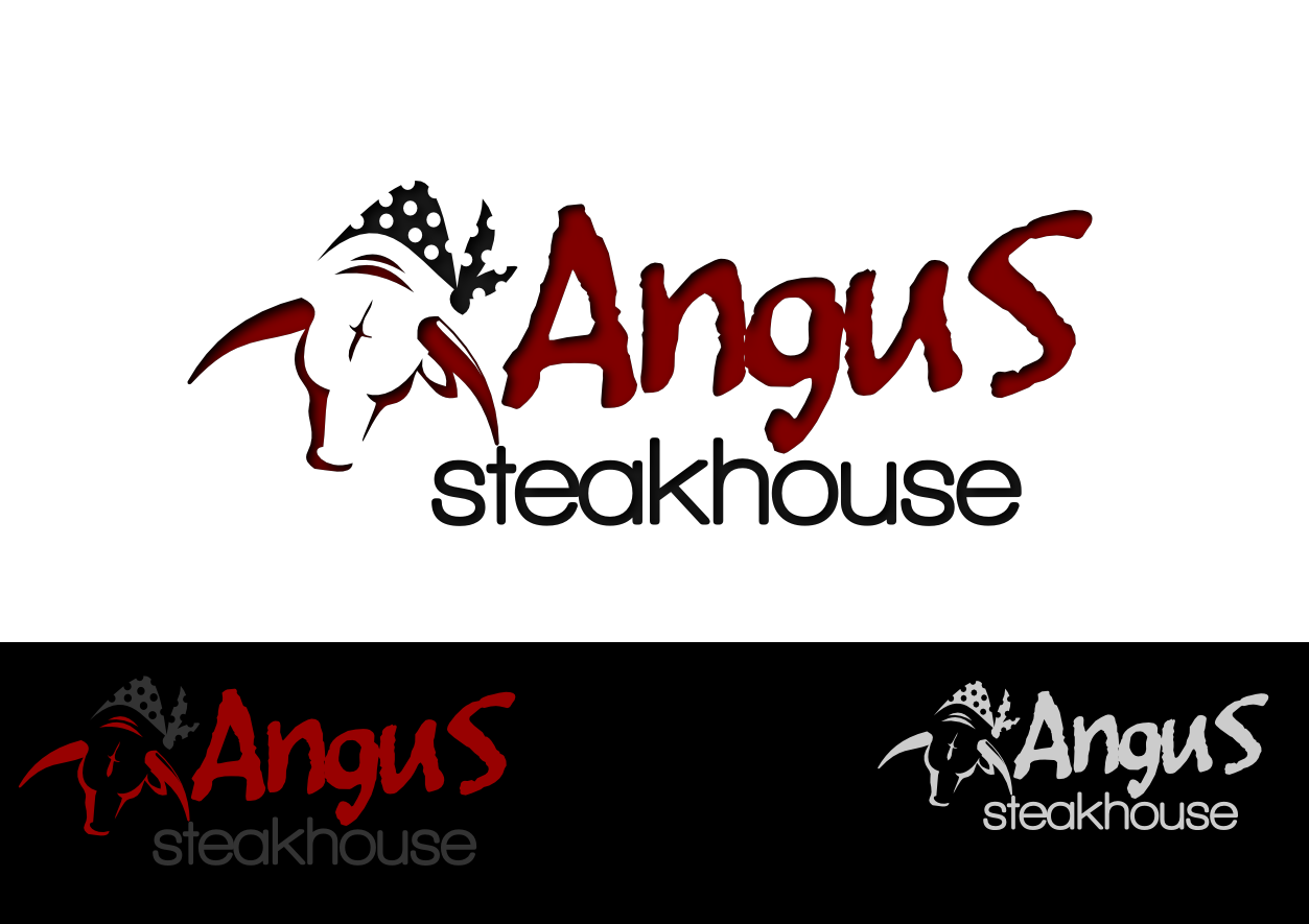 Logo Design by whoosef - Entry No. 83 in the Logo Design Contest Imaginative Custom Design for Angus Steakhouse.