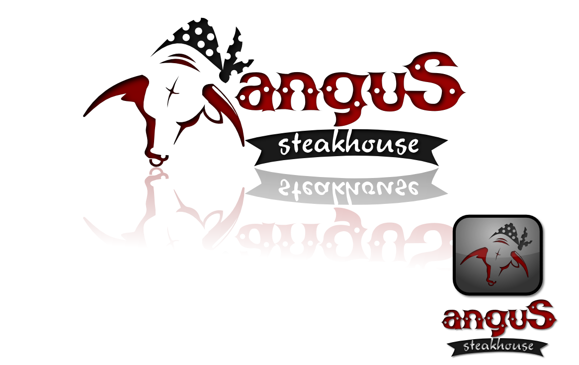 Logo Design by whoosef - Entry No. 85 in the Logo Design Contest Imaginative Custom Design for Angus Steakhouse.