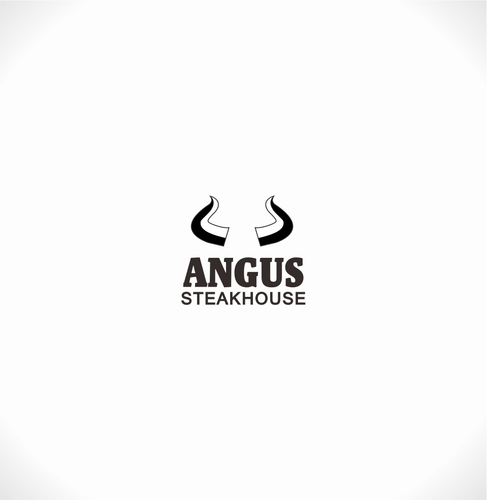 Logo Design by Mitchnick Sunardi - Entry No. 91 in the Logo Design Contest Imaginative Custom Design for Angus Steakhouse.