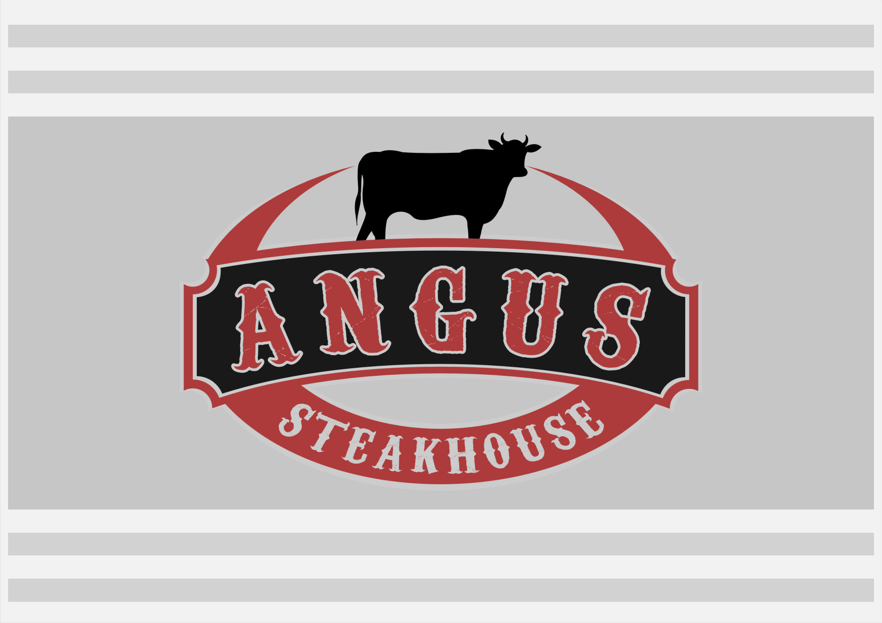 Logo Design by RasYa Muhammad Athaya - Entry No. 92 in the Logo Design Contest Imaginative Custom Design for Angus Steakhouse.