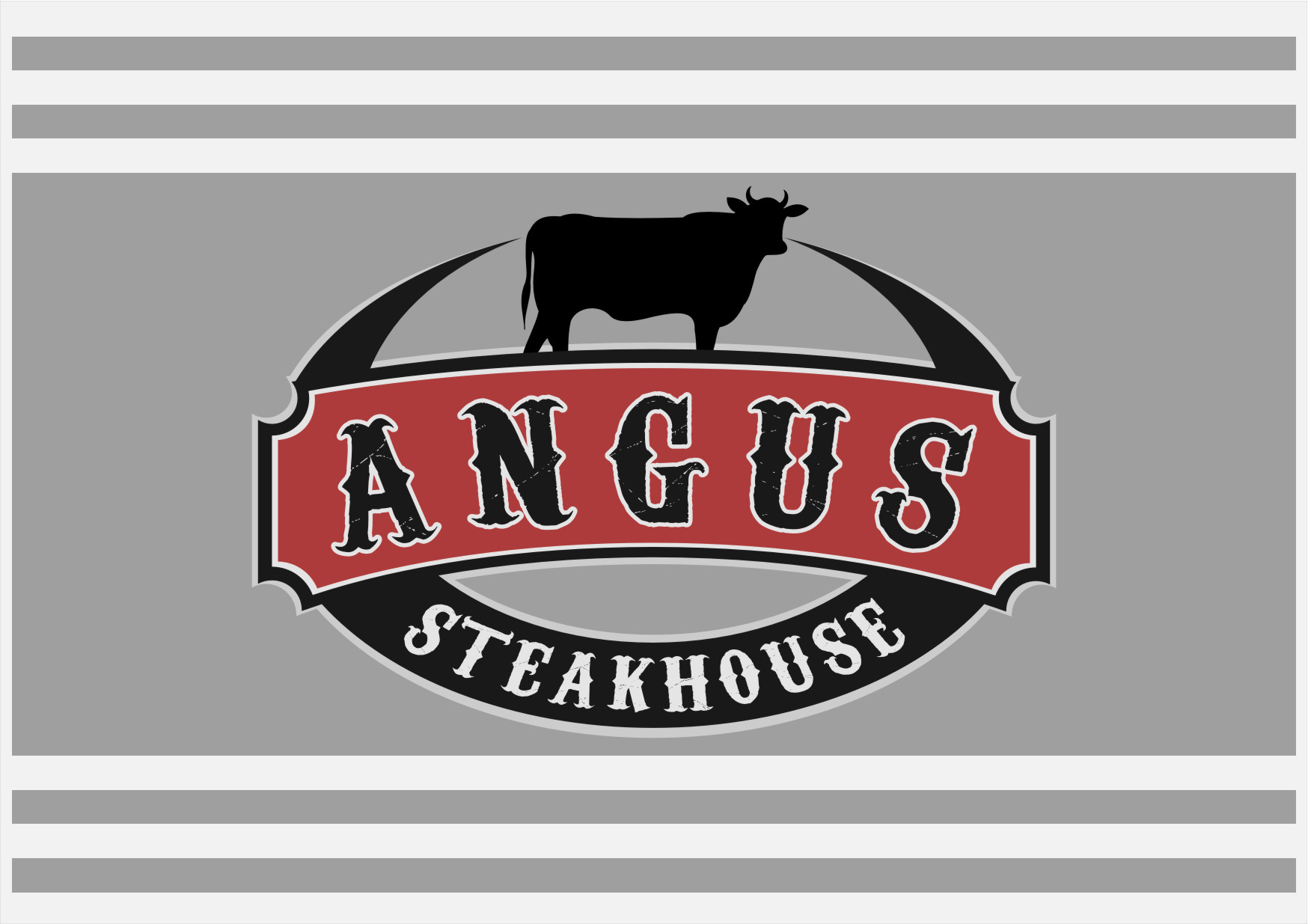 Logo Design by RoSyid Rono-Rene On Java - Entry No. 93 in the Logo Design Contest Imaginative Custom Design for Angus Steakhouse.