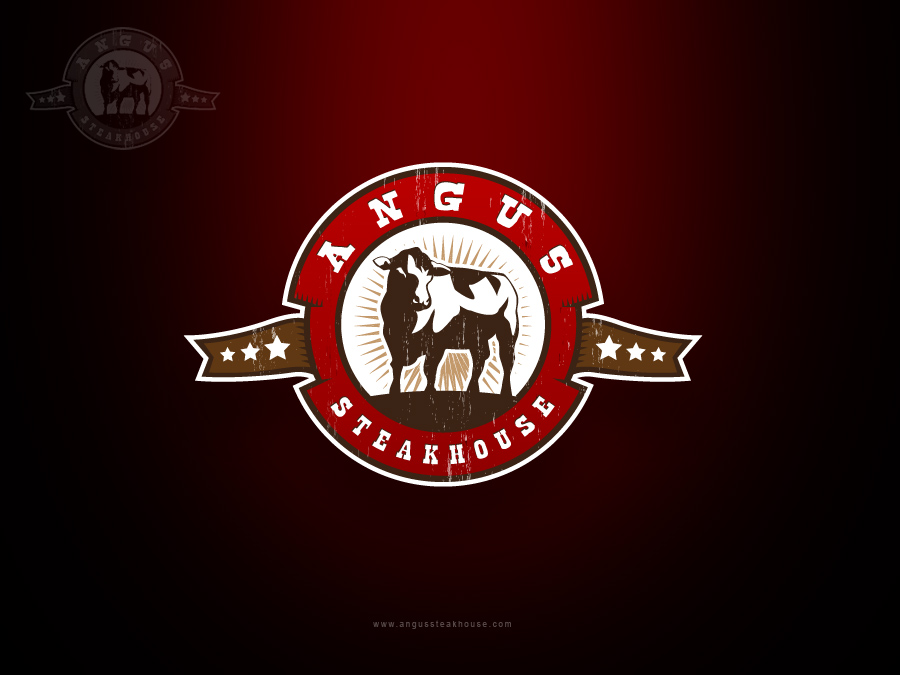 Logo Design by jpbituin - Entry No. 94 in the Logo Design Contest Imaginative Custom Design for Angus Steakhouse.