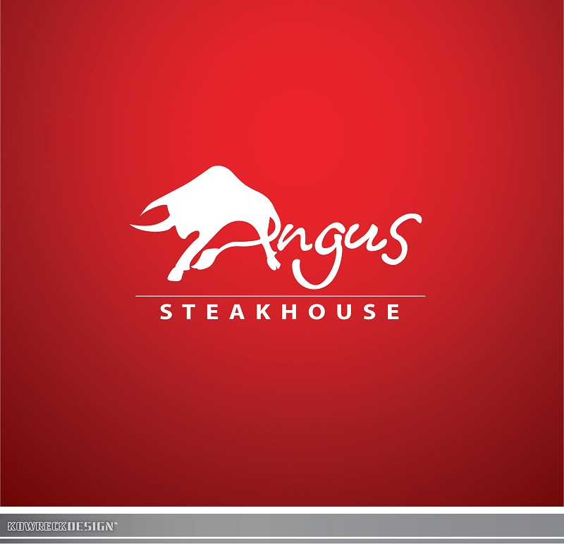Logo Design by kowreck - Entry No. 96 in the Logo Design Contest Imaginative Custom Design for Angus Steakhouse.