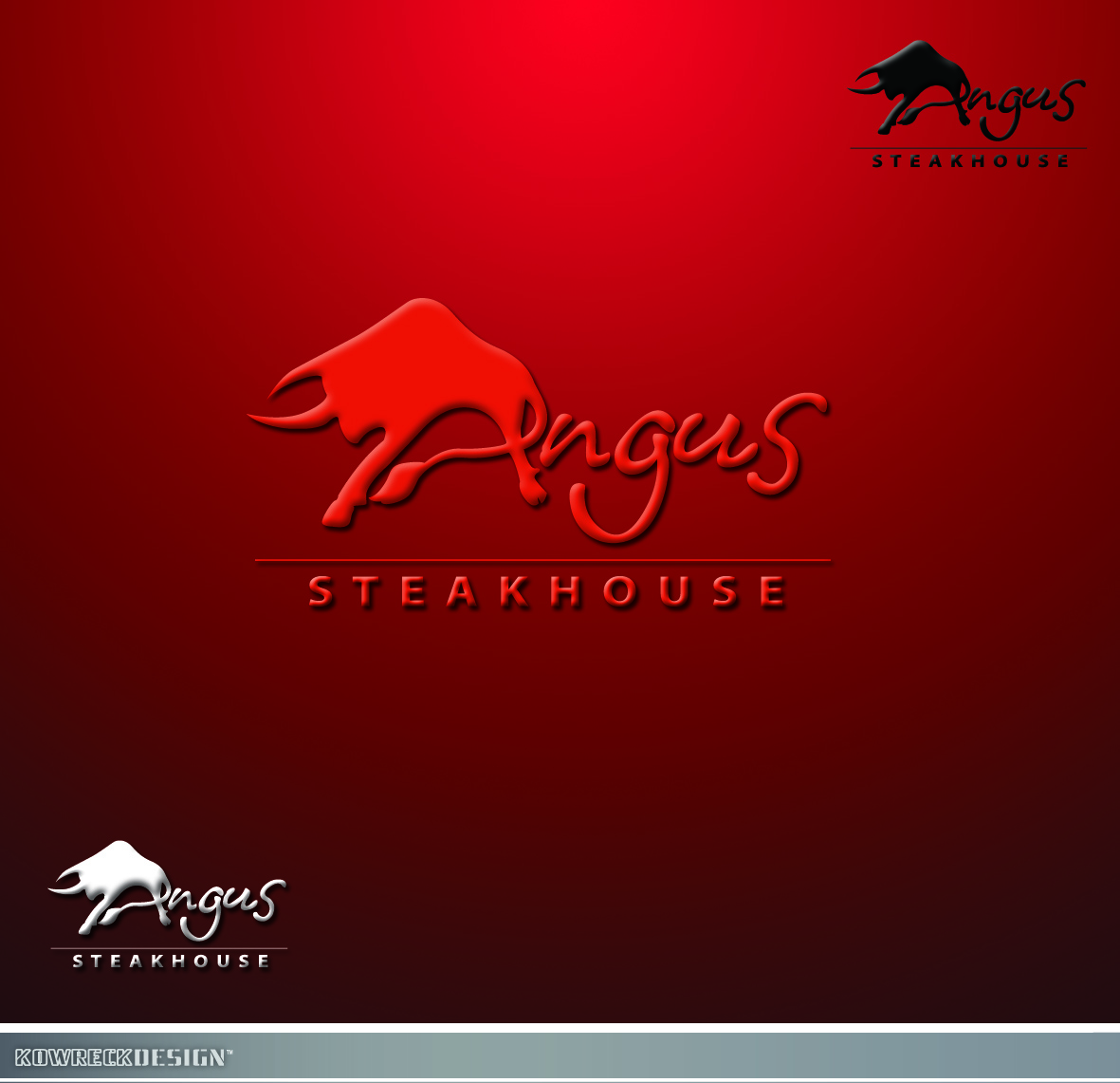 Logo Design by kowreck - Entry No. 98 in the Logo Design Contest Imaginative Custom Design for Angus Steakhouse.