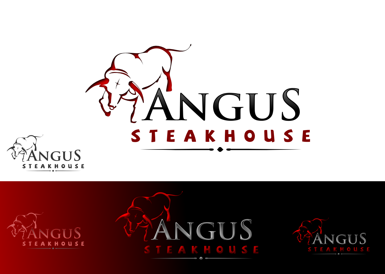 Logo Design by whoosef - Entry No. 100 in the Logo Design Contest Imaginative Custom Design for Angus Steakhouse.