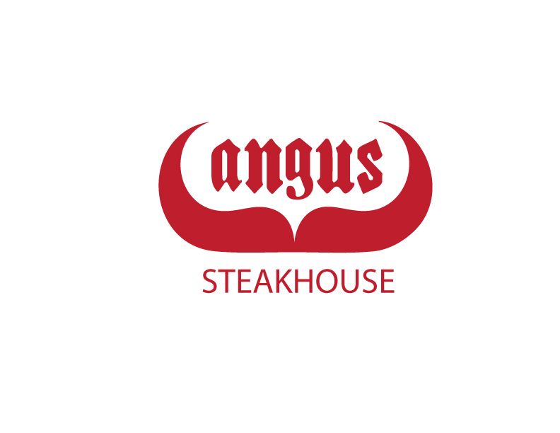 Logo Design by Private User - Entry No. 105 in the Logo Design Contest Imaginative Custom Design for Angus Steakhouse.