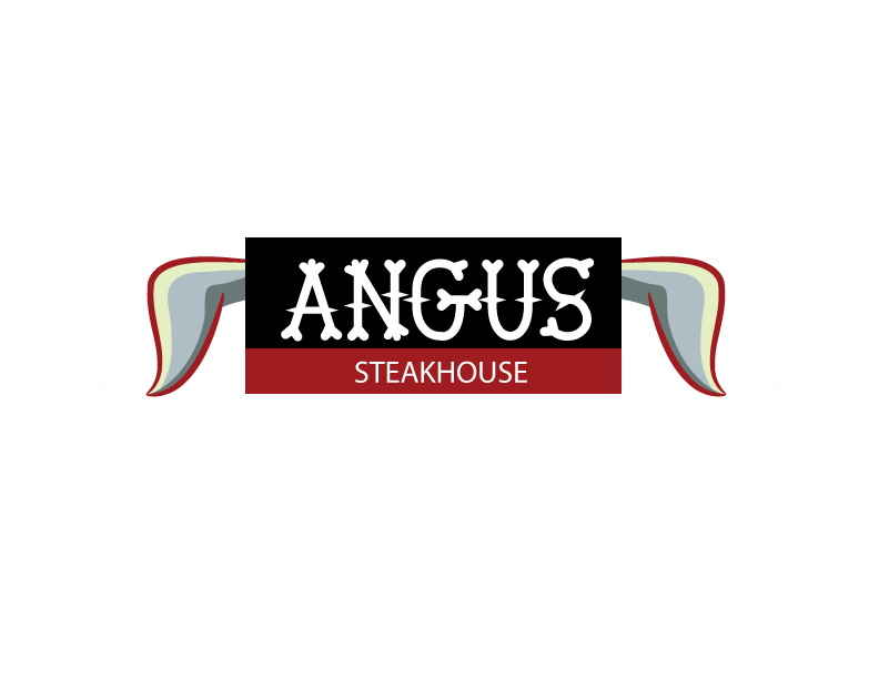 Logo Design by Private User - Entry No. 106 in the Logo Design Contest Imaginative Custom Design for Angus Steakhouse.